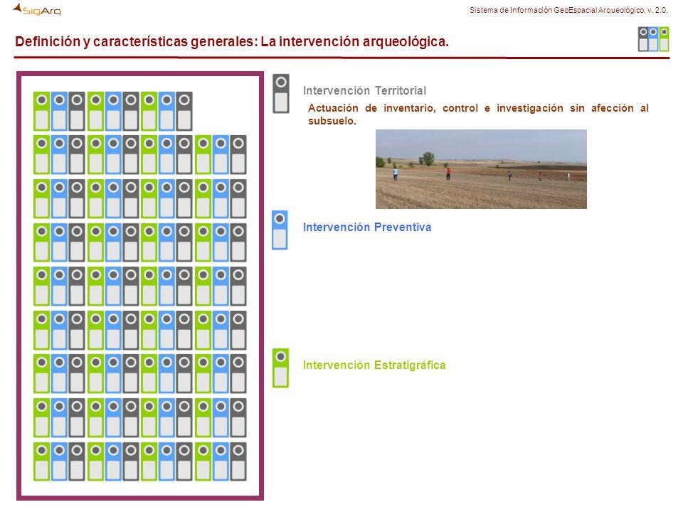Definición y características generales: La intervención arqueológica. Actuación de inventario, control e investigación sin afección al subsuelo. Inter