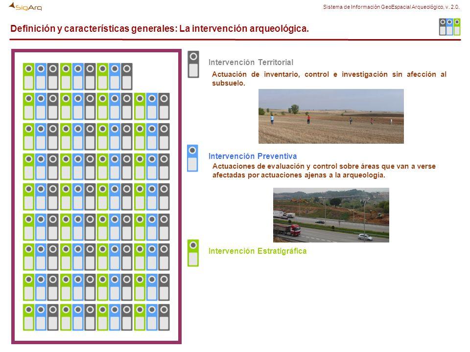 Definición y características generales: La intervención arqueológica. Actuación de inventario, control e investigación sin afección al subsuelo. Actua
