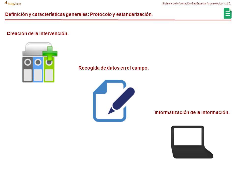 Definición y características generales: Protocolo y estandarización. Creación de la Intervención. Recogida de datos en el campo. Informatización de la