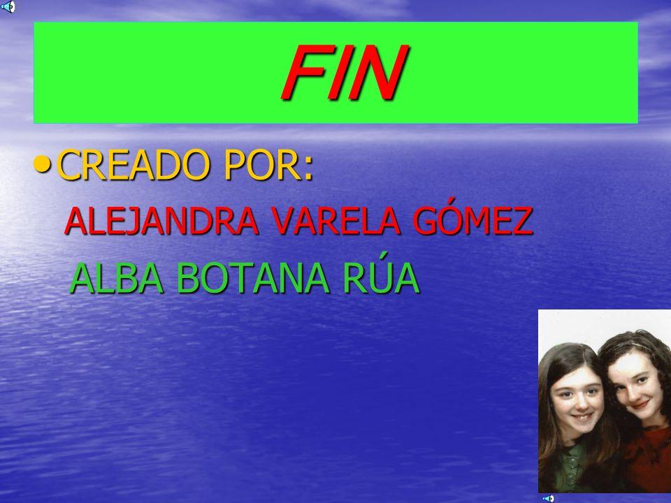 FIN CREADO POR: CREADO POR: ALEJANDRA VARELA GÓMEZ ALBA BOTANA RÚA ALBA BOTANA RÚA