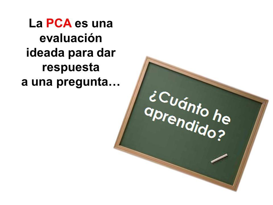 Por eso, este año rendirás la PCA… P rueba de C alidad de A prendizaje
