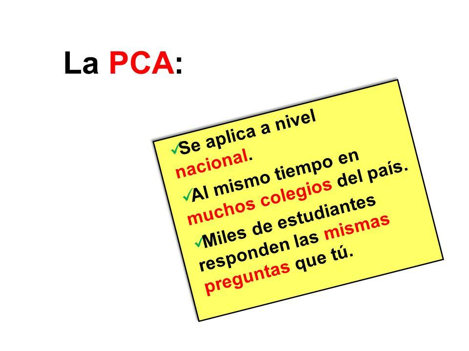 La PCA es una evaluación ideada para dar respuesta a una pregunta…