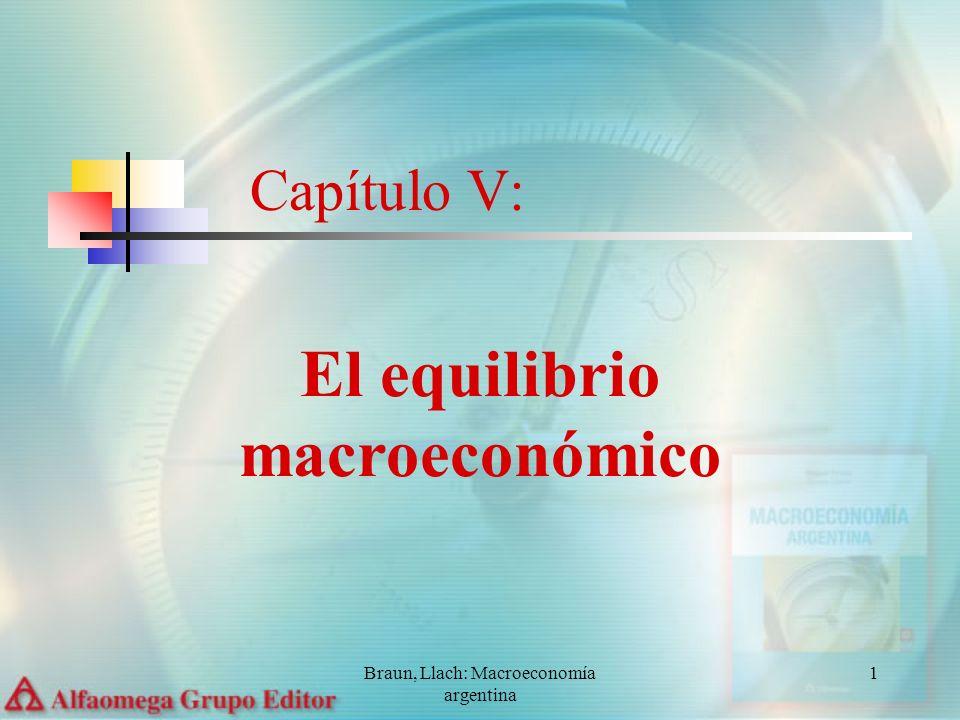 Braun, Llach: Macroeconomía argentina 2 En este capítulo se tratarán los siguientes temas: 1.El equilibrio macroeconómico según clásicos y keynesianos 2.La curva del nivel de actividad y el equilibrio macro 3.El multiplicador 4.Cambios en el nivel de actividad Capítulo V: El equilibrio macroeconómico