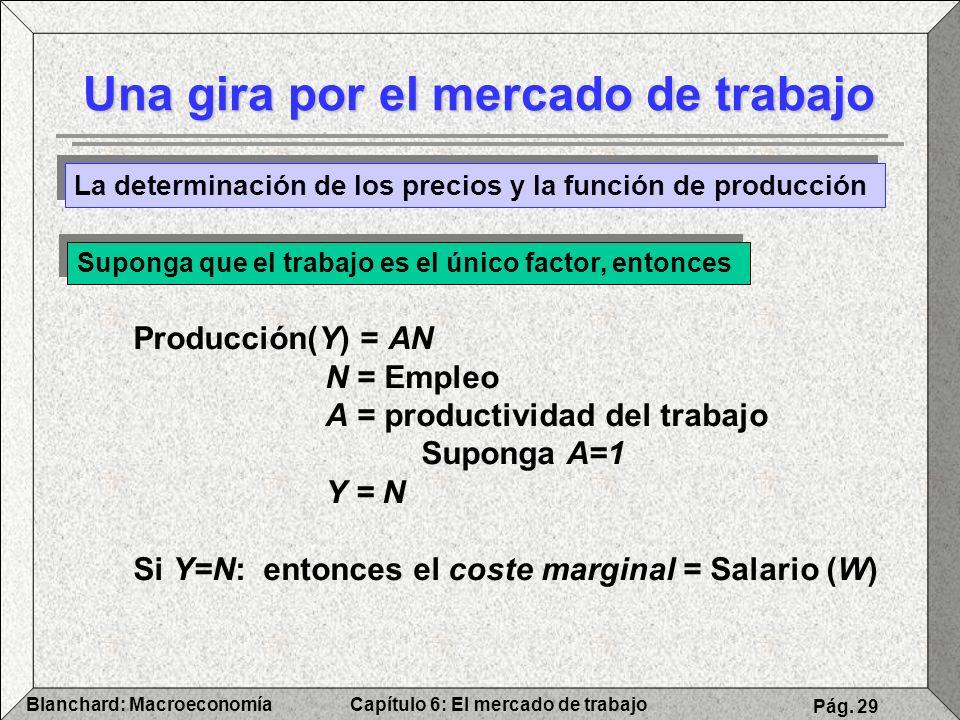 Capítulo 6: El mercado de trabajoBlanchard: Macroeconomía Pág. 29 Una gira por el mercado de trabajo La determinación de los precios y la función de p