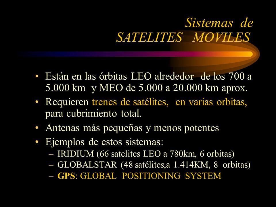 Están en las órbitas LEO alrededor de los 700 a 5.000 km y MEO de 5.000 a 20.000 km aprox.