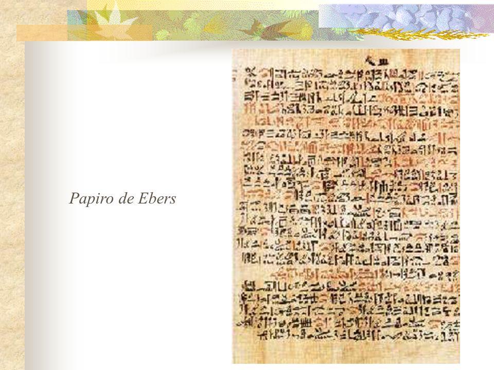 -En el papiro de Ebers podemos leer estas palabras que hay que pronunciar para sanar una quemadura: Mi hijo Horus está en llamas en la desierta llanura.