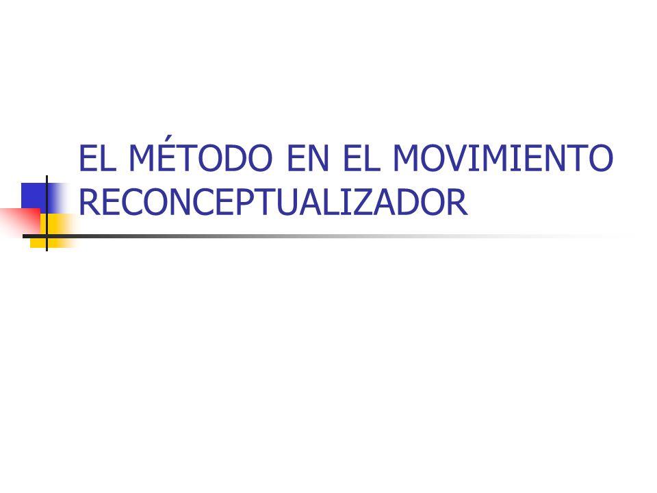 EL MÉTODO EN EL MOVIMIENTO RECONCEPTUALIZADOR