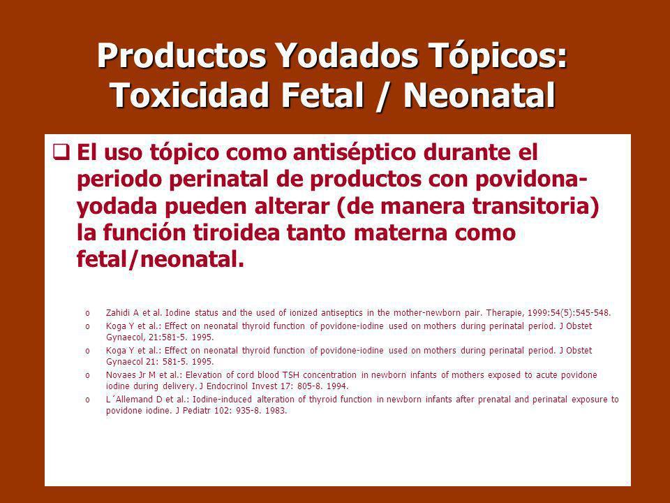 Alimentación durante el embarazo y prevención de malformaciones congénitas Los Requerimientos de yodo durante la gestación ascienden a: 250-300 g/día