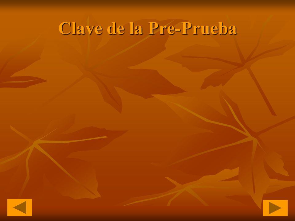Clave de la Pre-Prueba
