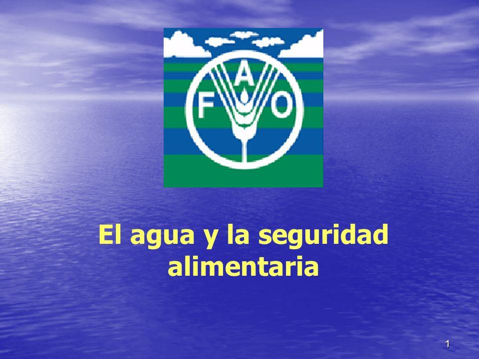 2 El agua y la seguridad alimentaría I.Disponibilidad de recursos hídricos.