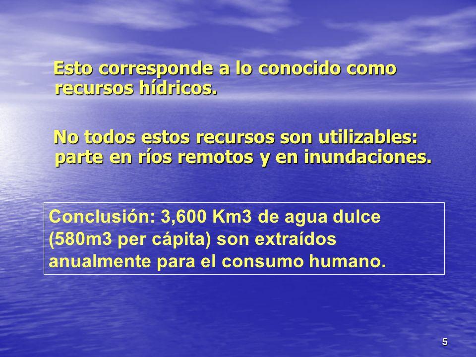 6 II.Uso agrícola del agua y seguridad alimentaría Agua extraída Agua consumida realmente.