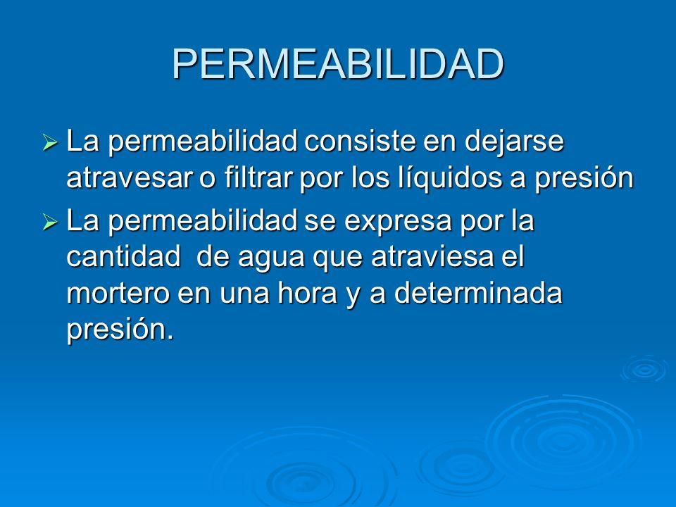 POROSIDAD Se define como los huecos o vacíos existentes en un mortero y que pueden llenarse de un líquido que penetre por capilaridad ó presión. Se de
