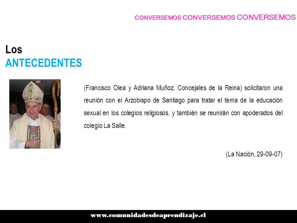Los ANTECEDENTES (Francisco Olea y Adriana Muñoz, Concejales de la Reina) solicitaron una reunión con el Arzobispo de Santiago para tratar el tema de