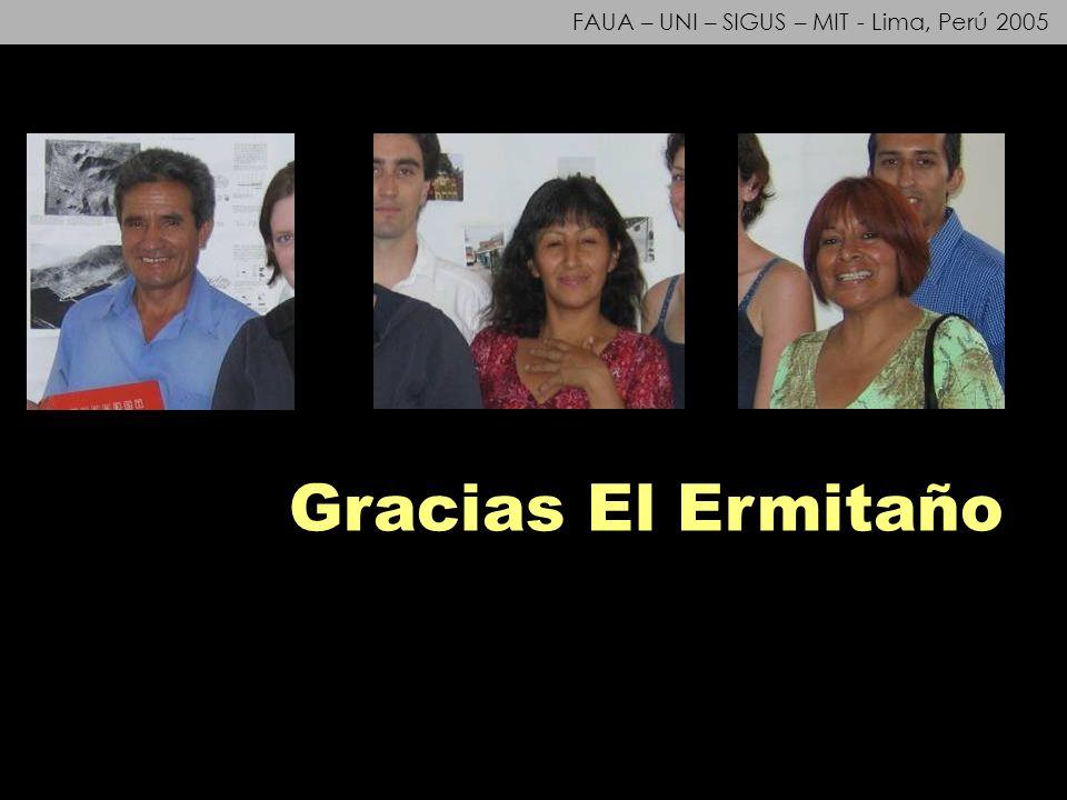 FAUA – UNI – SIGUS – MIT - Lima, Perú 2005 Gracias El Ermitaño