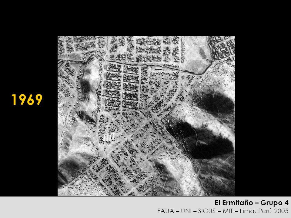 El Ermitaño – Grupo 4 FAUA – UNI – SIGUS – MIT – Lima, Perú 2005 Idea META Planificar el desarrollo de su casa, puede permitirle construir una vivienda que con el tiempo, con la densificación de la ciudad, se puede convertir en una unidad multifamiliar que cree beneficios económicos para su familia además de proveer vivienda para gente de bajos recursos.