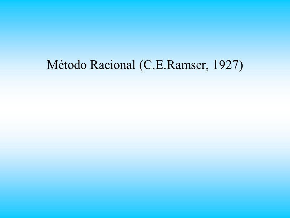 Método Racional (C.E.Ramser, 1927)