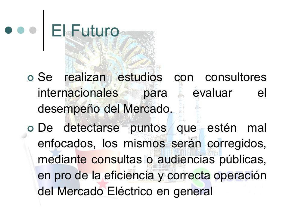 El Futuro Se realizan estudios con consultores internacionales para evaluar el desempeño del Mercado.