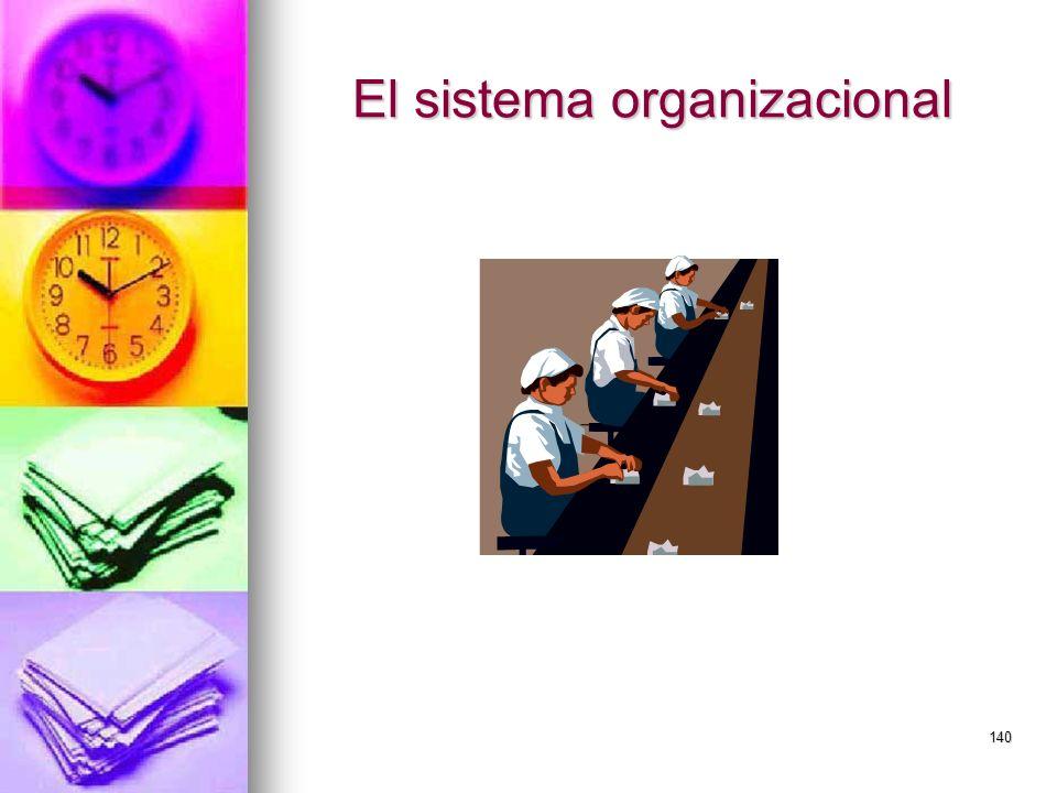 140 El sistema organizacional
