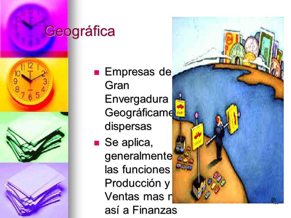 155 Geográfica Empresas de Gran Envergadura Geográficamente dispersas Empresas de Gran Envergadura Geográficamente dispersas Se aplica, generalmente a