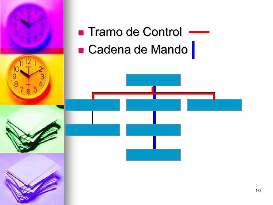 163 Tramo de Control Tramo de Control Cadena de Mando Cadena de Mando