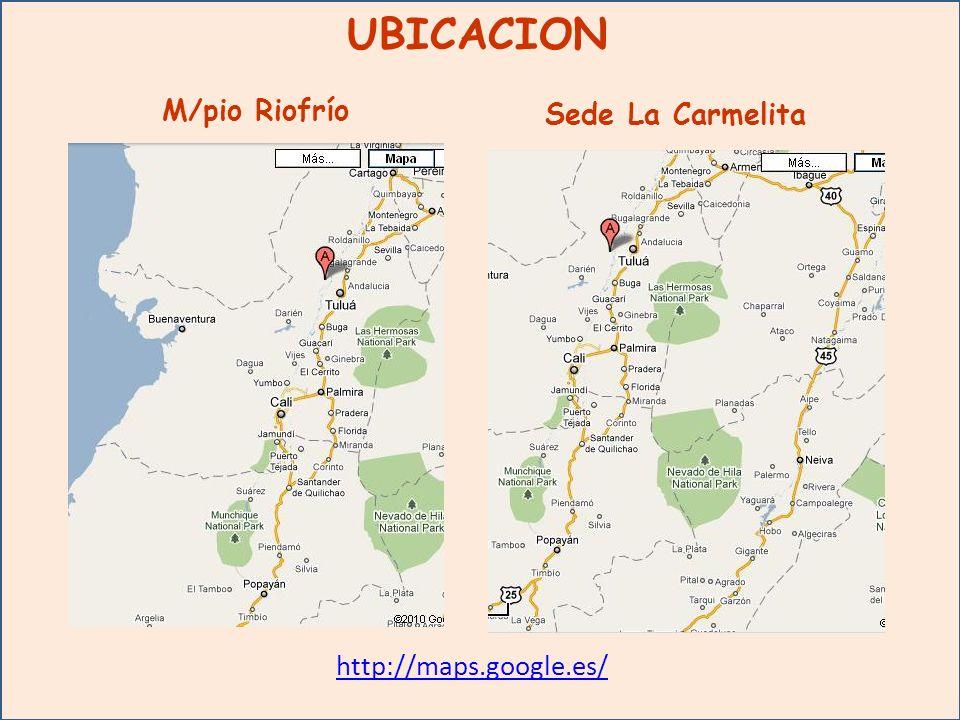 UBICACION M/pio Riofrío Sede La Carmelita http://maps.google.es/