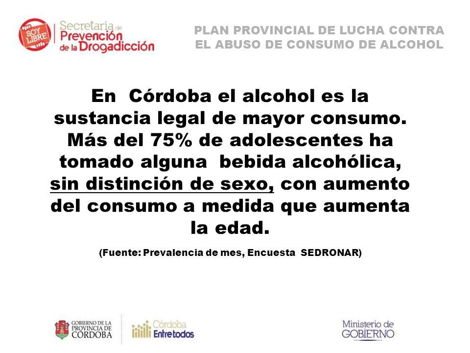 En Córdoba el alcohol es la sustancia legal de mayor consumo.
