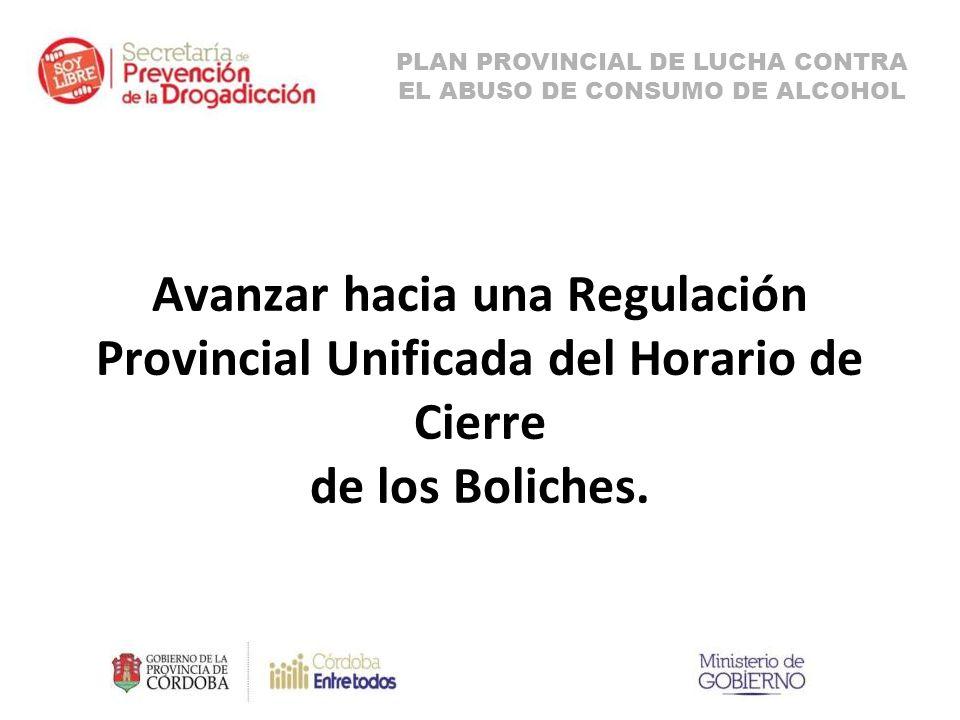 Avanzar hacia una Regulación Provincial Unificada del Horario de Cierre de los Boliches.