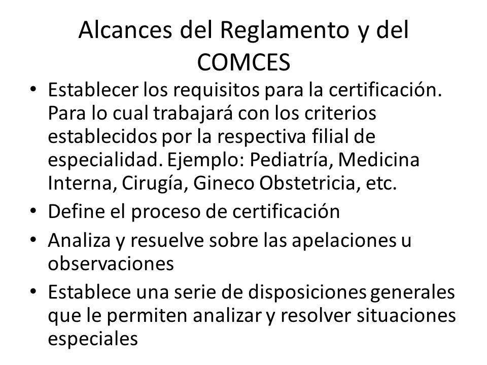 Avances A partir de Septiembre 2010 se ha conformado una Comisión Tripartita por parte del Consejo Superior de Salud Pública CSSP, Facultad de Medicina de la UES, COLMED, para definir una certificación técnica, académica y jurídica de las especialidades y otros Postgrados relacionados con Ciencias de la Salud en El Salvador