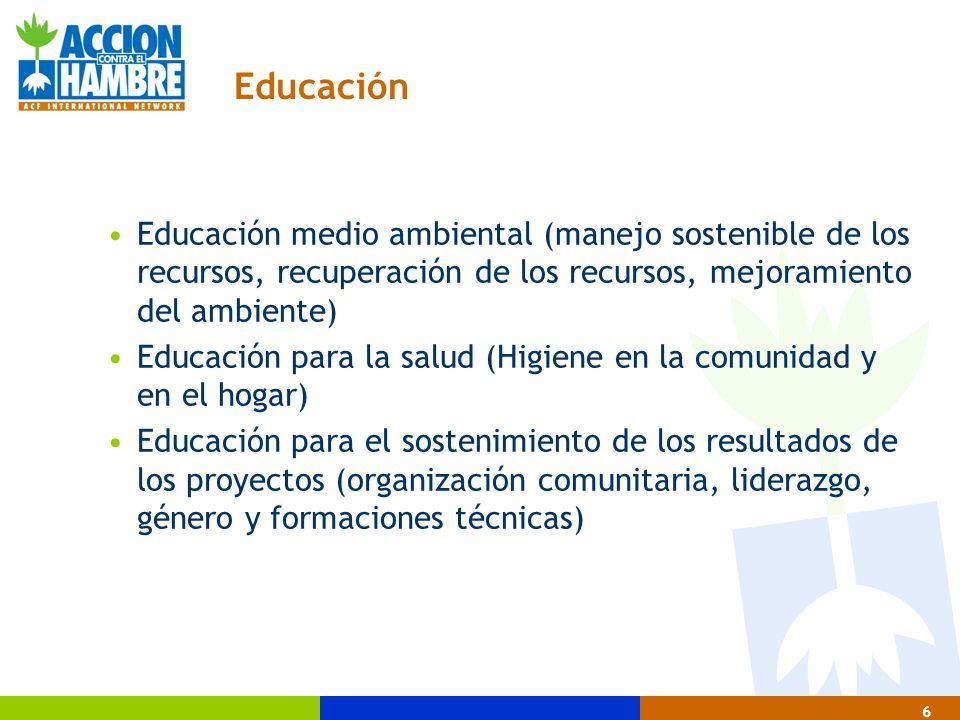 27 Metodología de intervención en agua y saneamiento 3 Tercera Fase de la Intervención 1.