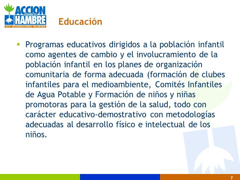 28 Metodología de intervención en agua y saneamiento 4 Tercera Fase de la Intervención 4.1.