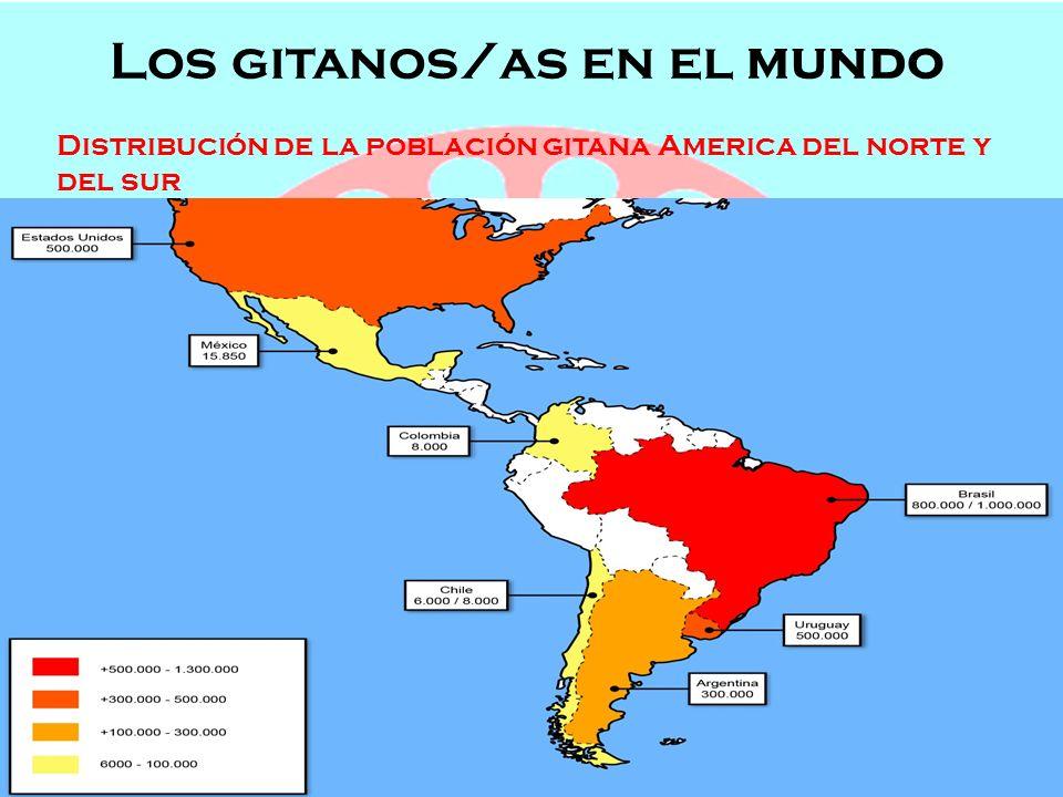 Los gitanos/as en el mundo Semana de Andalucía en el Cole OFICIOS, POBLACIÓN Y LENGUAJE Los gitanos/as en el mundo Distribución de la población gitana por Europa, Asia y africa :