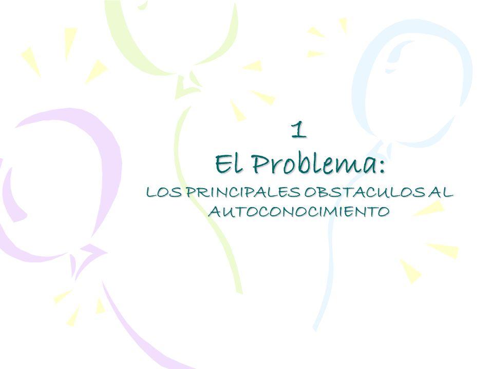 1 El Problema: LOS PRINCIPALES OBSTACULOS AL AUTOCONOCIMIENTO