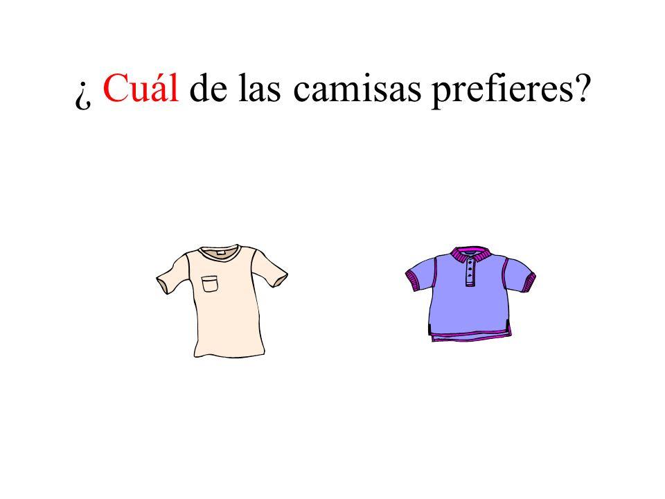 ¿ Cuál de las camisas prefieres?