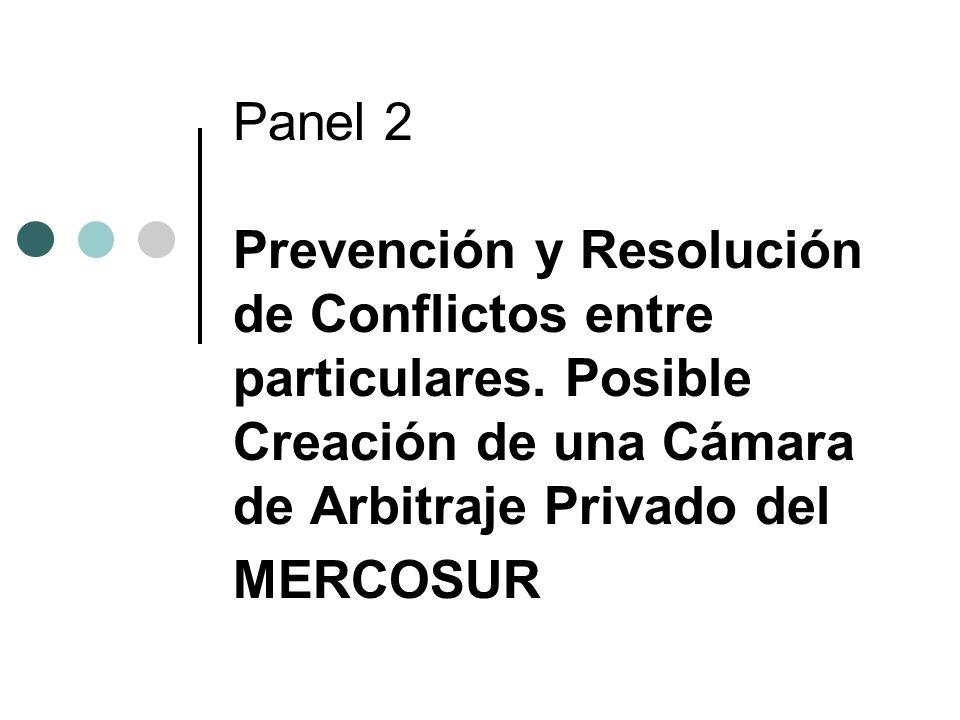 Panel 2 Prevención y Resolución de Conflictos entre particulares.