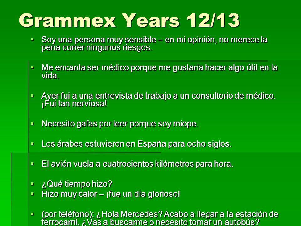 Grammex Years 12/13 Soy una persona muy sensible – en mi opinión, no merece la pena correr ningunos riesgos. Soy una persona muy sensible – en mi opin
