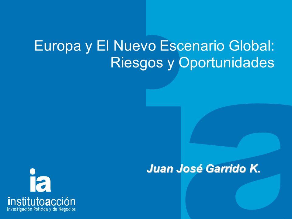 TITULO DEL TEMA Europa y El Nuevo Escenario Global: Riesgos y Oportunidades Juan José Garrido K.
