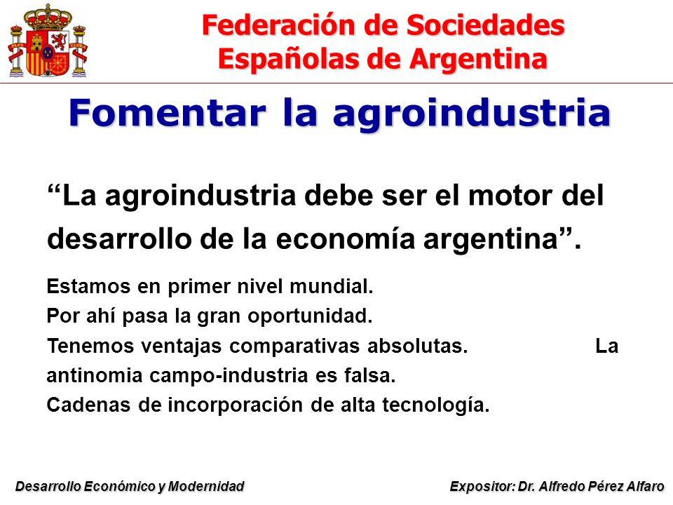 Federación de Sociedades Españolas de Argentina Expositor: Dr.