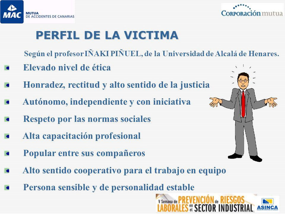 Según el profesor IÑAKI PIÑUEL, de la Universidad de Alcalá de Henares. Elevado nivel de ética Honradez, rectitud y alto sentido de la justicia Autóno
