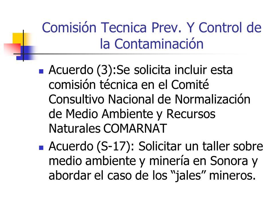 Comisión Tecnica Prev.