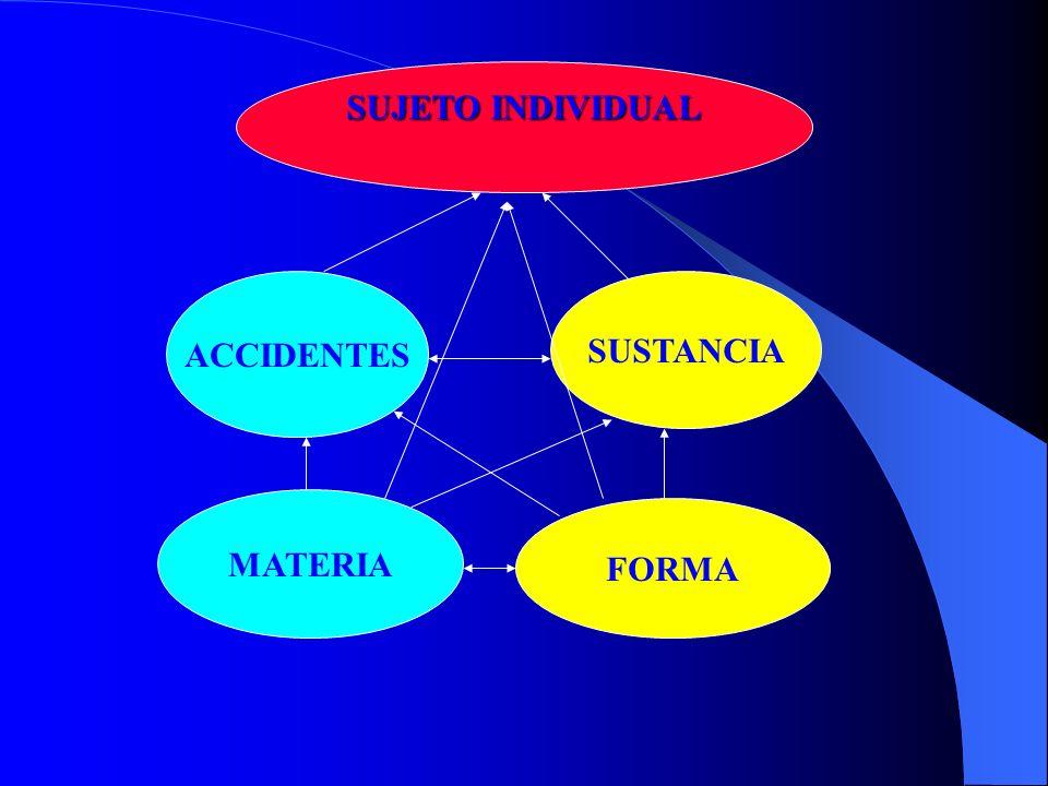 SUJETO INDIVIDUAL ACCIDENTES SUSTANCIA MATERIA FORMA