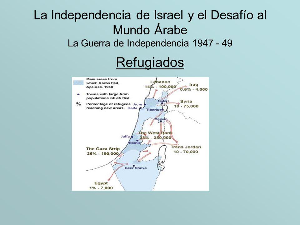 La Independencia de Israel y el Desafío al Mundo Árabe La Guerra de Independencia 1947 - 49 Refugiados
