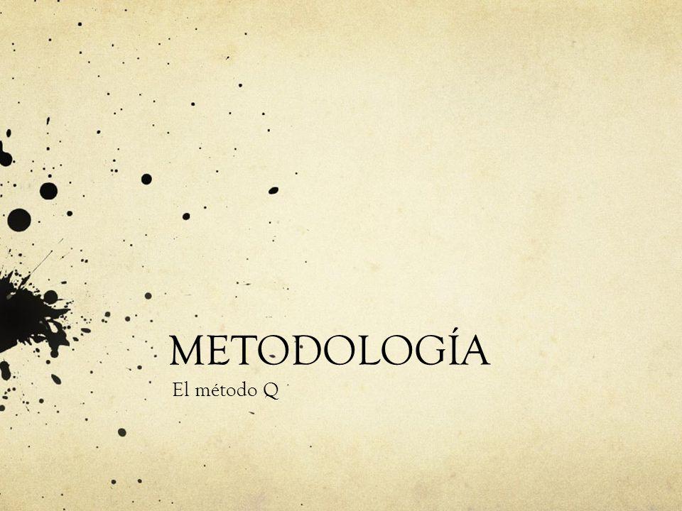 METODOLOGÍA El método Q