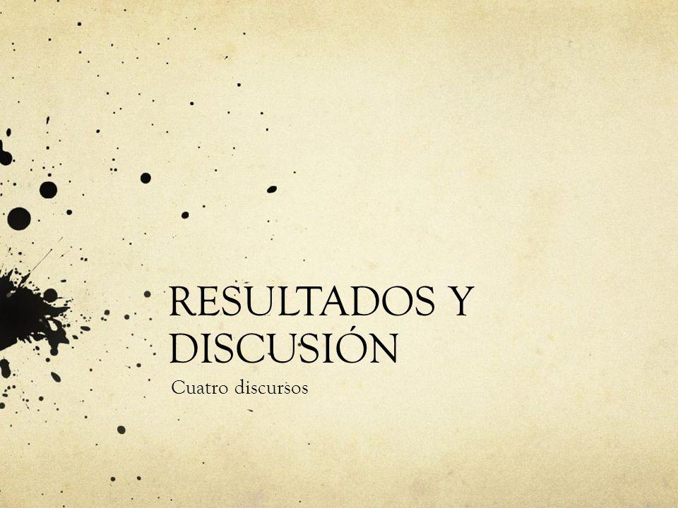 RESULTADOS Y DISCUSIÓN Cuatro discursos