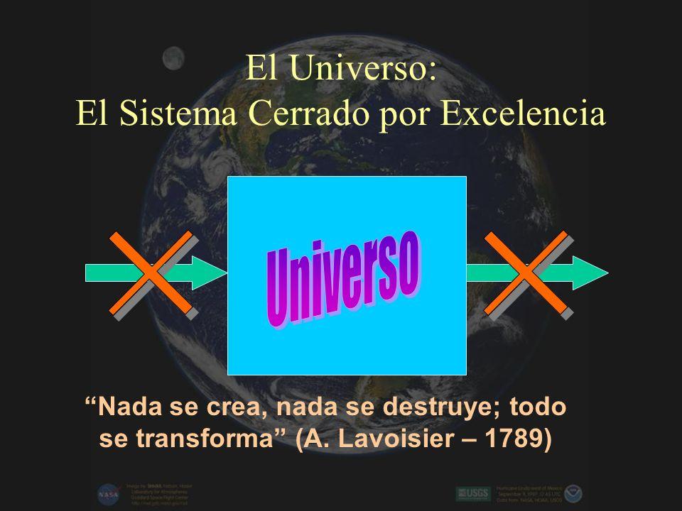 El Universo: El Sistema Cerrado por Excelencia Nada se crea, nada se destruye; todo se transforma (A.
