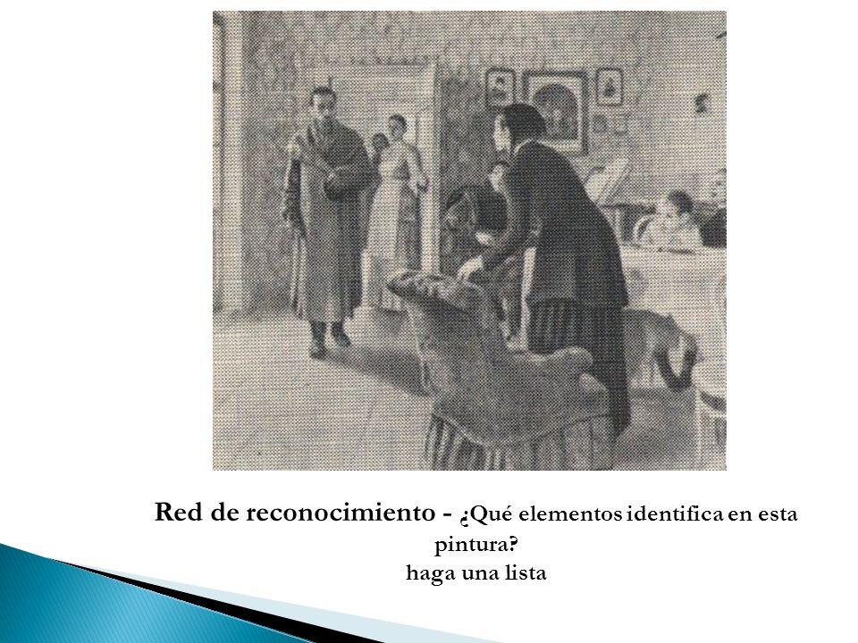Red de reconocimiento - ¿Qué elementos identifica en esta pintura? haga una lista
