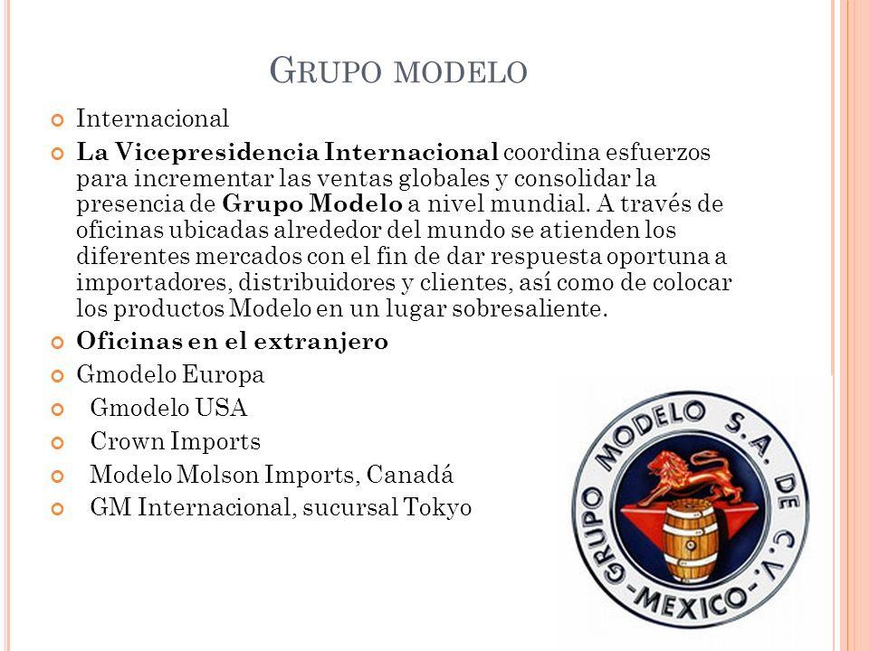 G RUPO MODELO Internacional La Vicepresidencia Internacional coordina esfuerzos para incrementar las ventas globales y consolidar la presencia de Grup