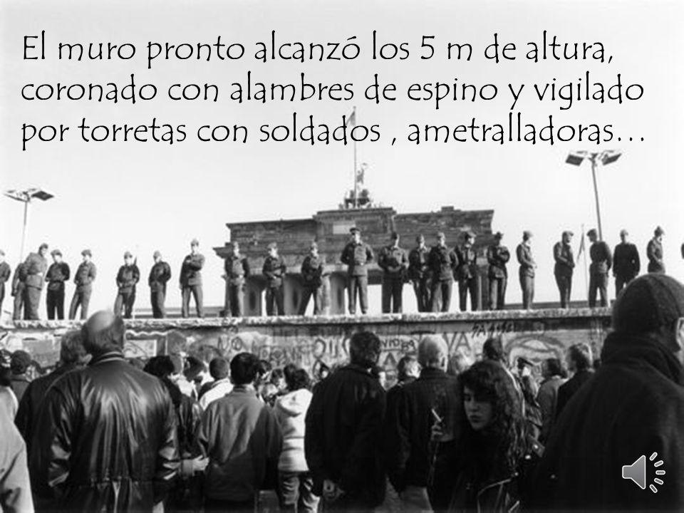 . Del 12 al 13 de agosto de 1961, se construyó el muro de la noche a la mañana.