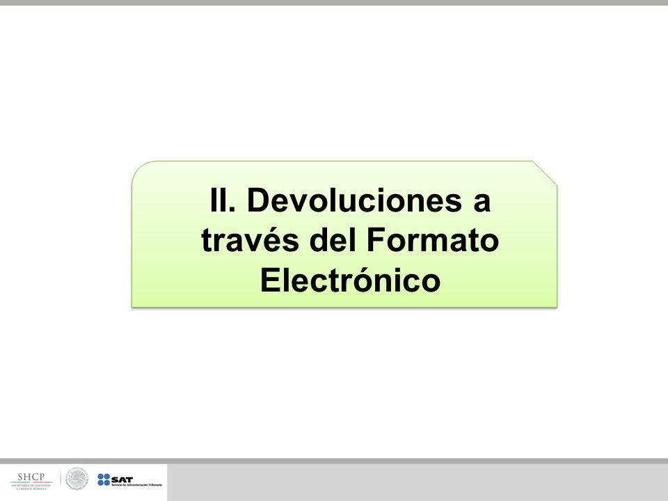 II. Devoluciones a través del Formato Electrónico