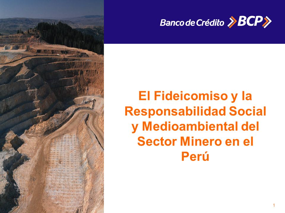 1 El Fideicomiso y la Responsabilidad Social y Medioambiental del Sector Minero en el Perú