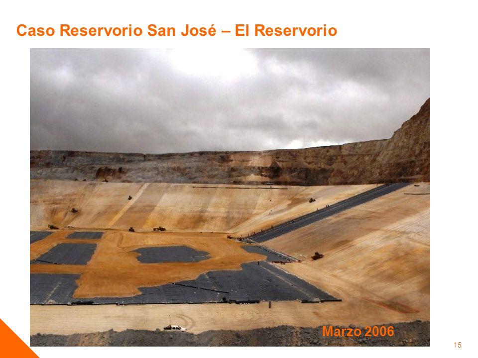 15 Caso Reservorio San José – El Reservorio Marzo 2006